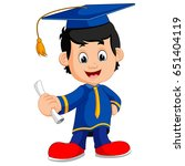 happy boy after graduation | Shutterstock . vector #651404119
