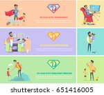 dads day. and greatest mentor.... | Shutterstock .eps vector #651416005