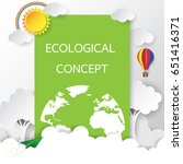 world environment day with eco... | Shutterstock .eps vector #651416371