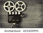 old movie camera  consisting of ... | Shutterstock . vector #651420991