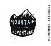 mountain adventure vintage... | Shutterstock .eps vector #651430381