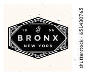 bronx new york apparel label... | Shutterstock .eps vector #651430765