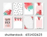 hand drawn vector abstract... | Shutterstock .eps vector #651432625