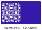 business card template. cut out ...   Shutterstock .eps vector #651433501