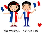smiling children  boy and girl  ... | Shutterstock .eps vector #651435115