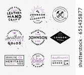 leather goods vintage labels.... | Shutterstock .eps vector #651435877