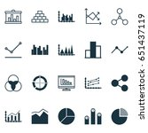 set of graphs  diagrams and... | Shutterstock .eps vector #651437119