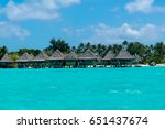 tropical resort bora bora | Shutterstock . vector #651437674