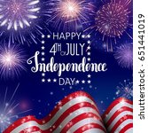 4th of july  american... | Shutterstock .eps vector #651441019