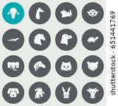 set of 16 alive icons set... | Shutterstock .eps vector #651441769