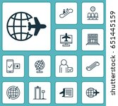 travel icons set. collection of ... | Shutterstock .eps vector #651445159