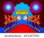 marching music brass band for... | Shutterstock .eps vector #651447541