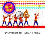 marching music brass band for... | Shutterstock .eps vector #651447589