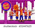 marching music brass band for... | Shutterstock .eps vector #651447625
