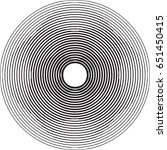 lines in circle form . spiral... | Shutterstock .eps vector #651450415