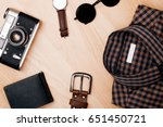 travel planning a set of travel ... | Shutterstock . vector #651450721