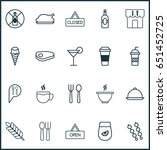 food icons set. collection of... | Shutterstock .eps vector #651452725