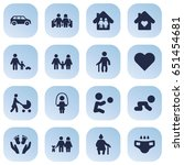 set of 16 people icons set... | Shutterstock .eps vector #651454681