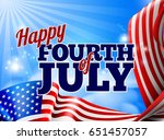 a fourth of july independence... | Shutterstock .eps vector #651457057