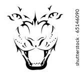 tiger  tattoo | Shutterstock .eps vector #65146090