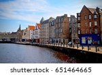 view of leith harbour.... | Shutterstock . vector #651464665