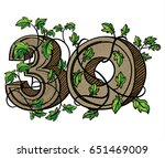 decorative numeral decorated... | Shutterstock . vector #651469009