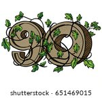 decorative numeral decorated... | Shutterstock . vector #651469015
