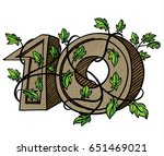 decorative numeral  decorated... | Shutterstock . vector #651469021