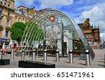 tube station at st enoch centre ... | Shutterstock . vector #651471961
