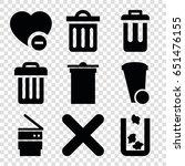 delete icons set. set of 9... | Shutterstock .eps vector #651476155