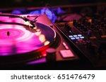 moscow 6 june 2016 dj turntable ... | Shutterstock . vector #651476479