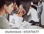 make up artist preparing... | Shutterstock . vector #651476677
