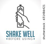 shake well before using icon | Shutterstock .eps vector #651486421