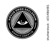 new world order emblem with all ... | Shutterstock .eps vector #651486481