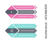 infographics template with... | Shutterstock .eps vector #651486505