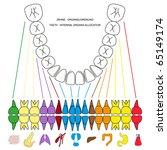 illustration of teeth as symbol ... | Shutterstock . vector #65149174