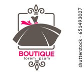 dress boutique or fashion... | Shutterstock .eps vector #651493027