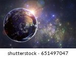planet earth and the sun.... | Shutterstock . vector #651497047