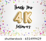4k or 4000 thank you gold... | Shutterstock . vector #651499429
