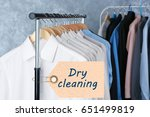 concept of dry cleaning service.... | Shutterstock . vector #651499819