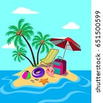 summer seaside vacation... | Shutterstock .eps vector #651500599