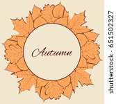 autumn vector illustration.... | Shutterstock .eps vector #651502327