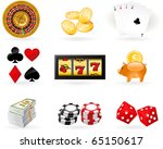 gambling icon set   Shutterstock .eps vector #65150617