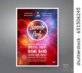 vector dance club night summer... | Shutterstock .eps vector #651506245