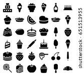 dessert icons set. set of 36...   Shutterstock .eps vector #651513955
