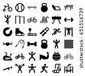 exercise icons set. set of 36