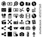 media icons set. set of 36... | Shutterstock .eps vector #651517165
