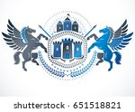 retro vintage insignia. vector... | Shutterstock .eps vector #651518821