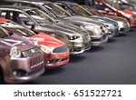 cars parked  3d illustration | Shutterstock . vector #651522721
