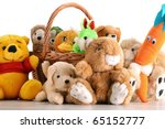 Stuffed Animal Toys Isolated O...